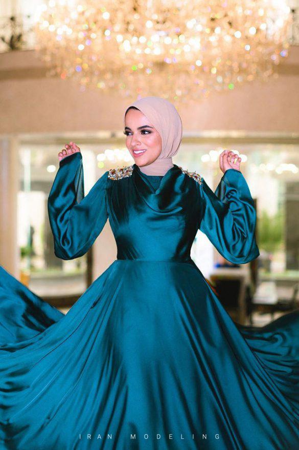 لباس جشن با حجاب لباس جشن پوشیده لباس جشن پوشیده و محجبه برای عروسی ایران مدلینگ