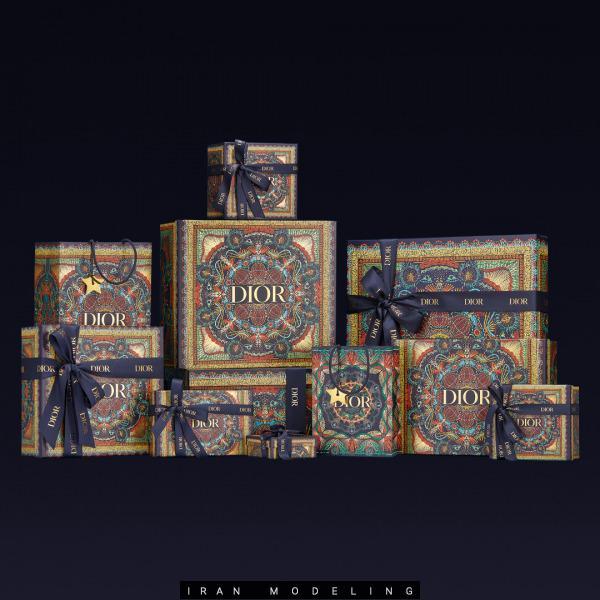 جعبه های سه بُِعدی برند دیور با نام Luminarie