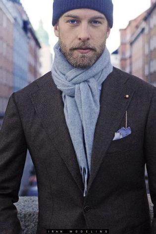 انواع شال گردن مردانه و روش گره زدن آنها